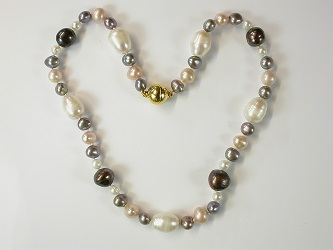 69149 - Freshwater vari-colour pearl necklace