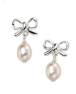 69171 - White Cultured Pearl Drop Earrings