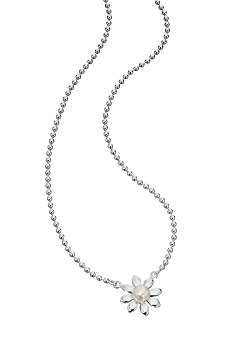 69172 - Pearl set flower necklace in Sterling Silver