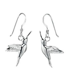 69326 - Hummingbird Drop Earrings in Sterling Silver