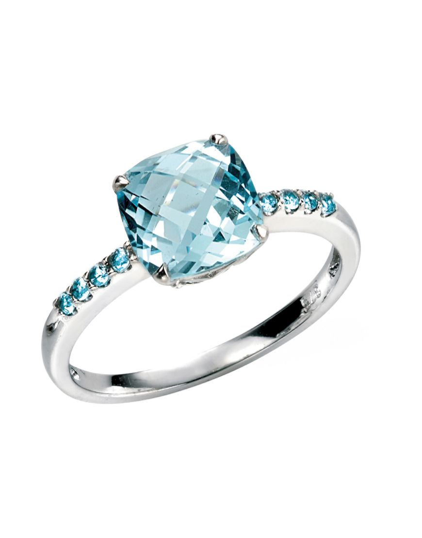 69341 - Blue Topaz Dress ring in 9ct White Gold