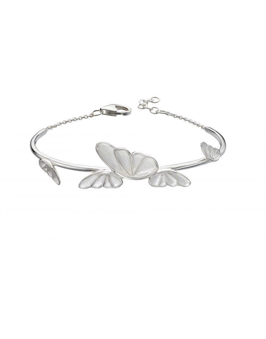 69348 - Butterfly Bangle in Sterling Silver
