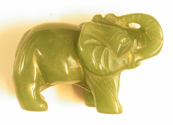 69383 - Aventurine carved Elephant