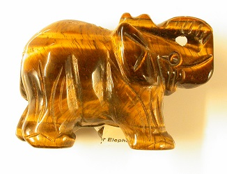 69384 - Tigers Eye carved Elephant