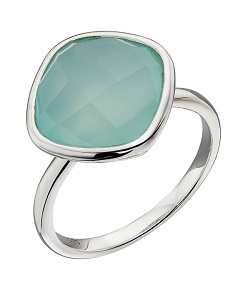 69548 - Aqua chalcedony ring in Sterling Silver