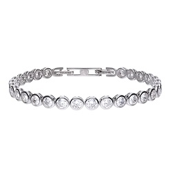 69609 - 7 ct tennis bracelet in silver set with Diamonfire cubic zirconia