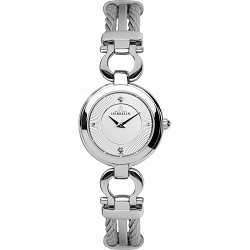 69612 - Michel Herbelin Small sized steel Cable Watch