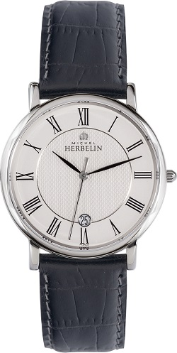 69614 - Michel Herbelin Large sized Slimline Strap Watch