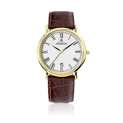 69617 - Michel Herbelin Large sized Slimline Strap Watch