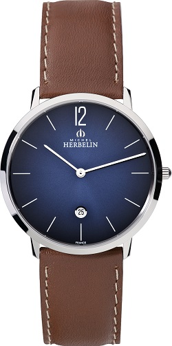 69618 - Michel Herbelin Large sized Slimline Strap Watch