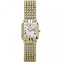 69633 - Michel Herbelin Womens Yellow gold plated Steel Perle Bracelet Watch