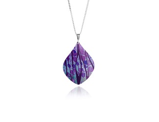 69738 - Aluminium Honesty Purple Pendant & Chain