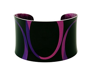 69807 - Aluminium Bella Noir Purple Bangle