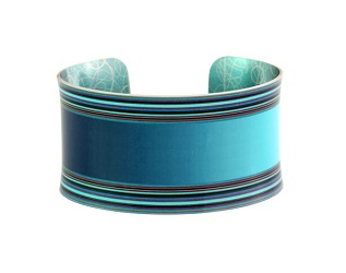 69813 - Aluminium Moda Turquoise Blue Bangle