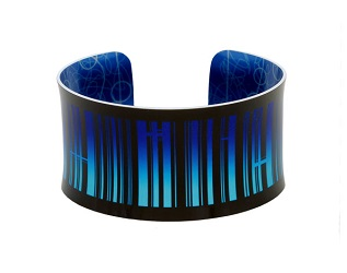 69814 - Aluminium New York Blue Bangle