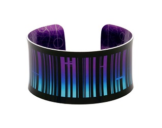 69815 - Aluminium New York Purple Bangle