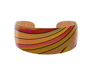 69816 - Aluminium Ribbon Orange Bangle