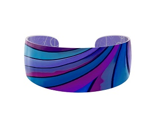 69817 - Aluminium Ribbon Blue Bangle