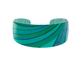 69818 - Aluminium Ribbon Turquoise Bangle