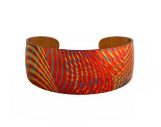 69826 - Aluminium Weave Red Bangle