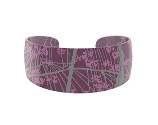 69828 - Aluminium Willow Pink Bangle