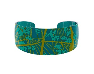 69829 - Aluminium Willow Turquoise Bangle
