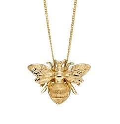 69914 - 9ct Yellow Gold Bee Pendant  & Chain