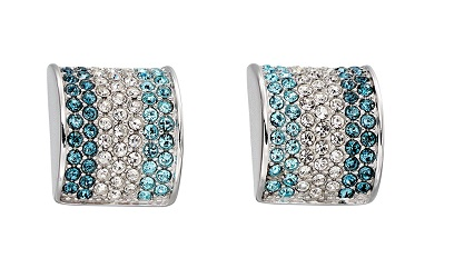 69919 - Fiorelli multi colour crystal Stud Earrings in Sterling Silver