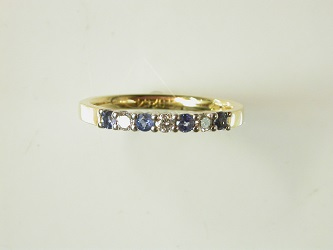 69938 - 18ct White & Yellow Gold Sapphire Diamond set Eternity ring