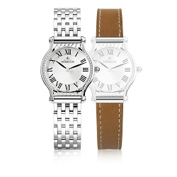 69976 - Michel Herbelin Small sized Slimline Watch with interchangeable bracelet & strap