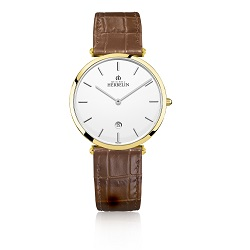 69979 - Michel Herbelin Large sized Slimline Strap Watch