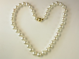 70032 - Stunning White South Sea Pearls with 18ct  Yellow gold safety clasp