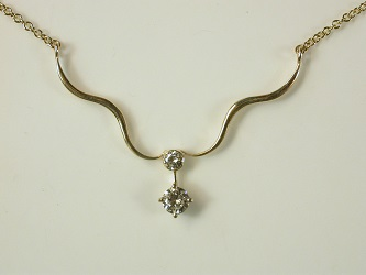70173 - Diamond necklace in 9ct Yellow Gold