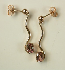 70180 - Our Wings of Love design drop earrings set with Morganite