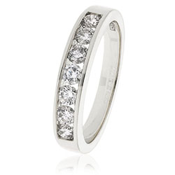 69873 - 18ct White Gold Diamond set Eternity ring