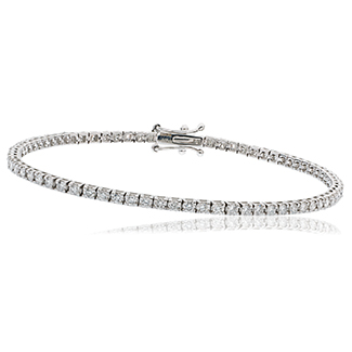 BL7228 - 18ct white gold tennis bracelet set with 2.20ct  of Diamonds
