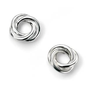68797 - Woolmark Stud Earrings in Sterling Silver