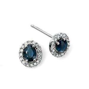 68842 - Sapphire & Diamond Stud Earrings in 9ct Gold