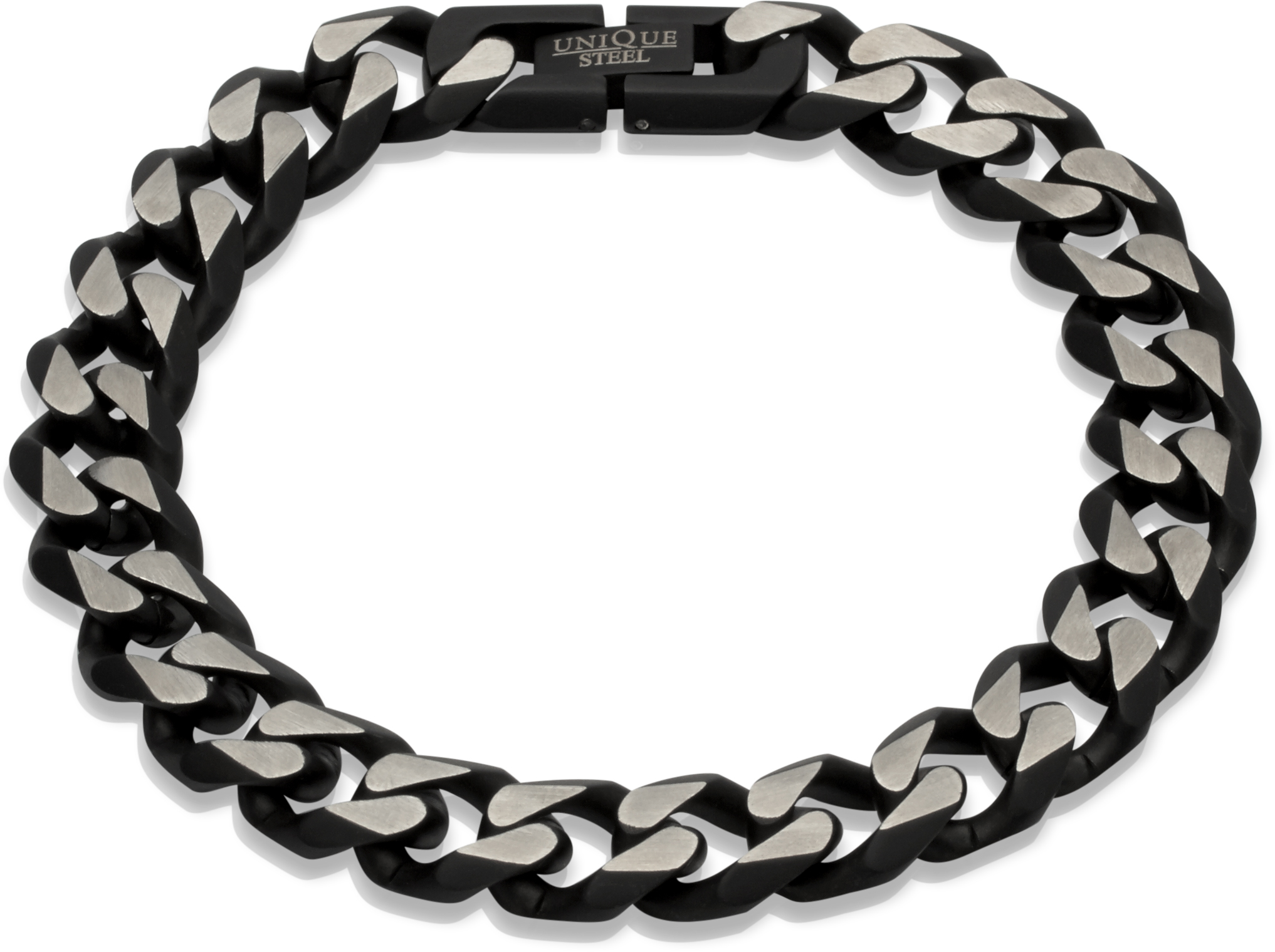 68808 - Polished Stainless Steel Curb link  bracelet