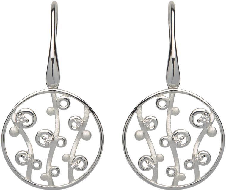 68831 - Silver Disc earrings in Sterling Silver