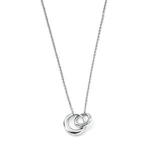 68776 - Double disc pendant in Sterling Silver
