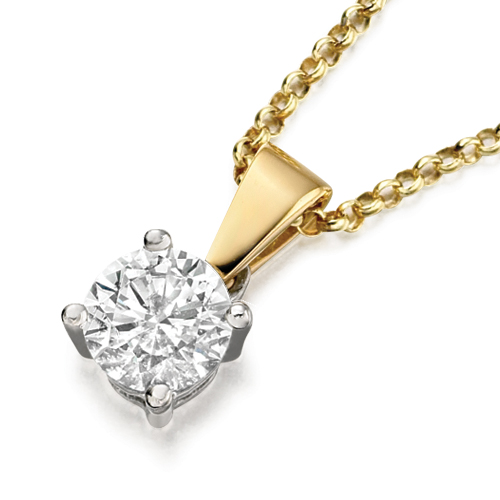 66723 - 0.15ct Diamond Pendant & Chain in Gold