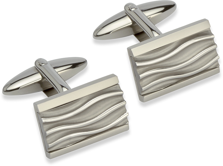 68804 - Stainless Steel Rectangular Cufflinks