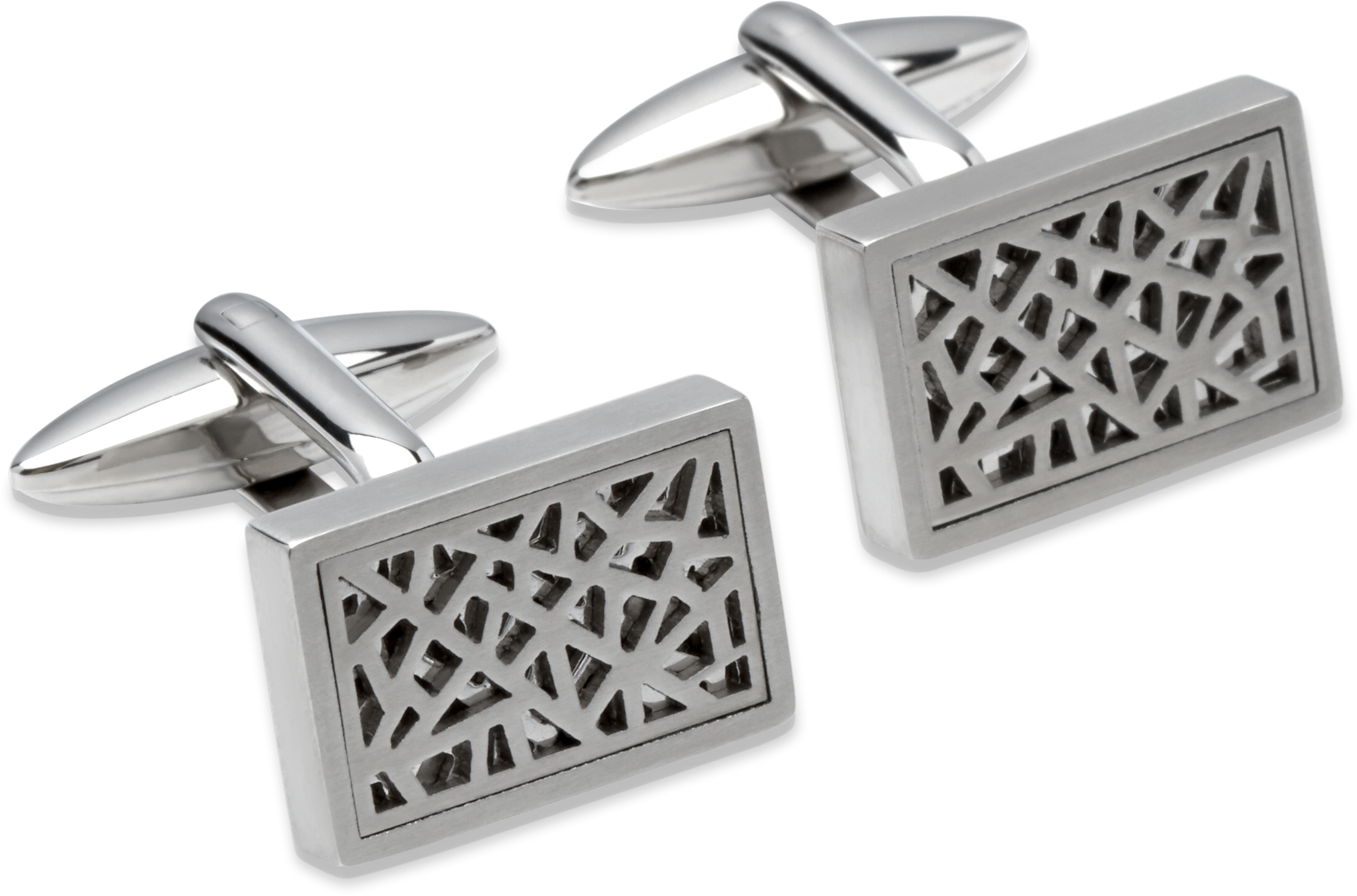 68803 - Rectangular Stainless Steel Cufflinks