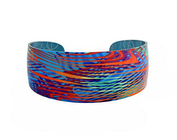 69827 - Aluminium Weave Turquoise Bangle
