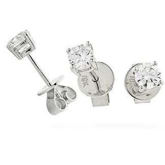 XYE2042 - Exceptionally Bright 0.50ct Diamond Earrings set in 18ct white Gold