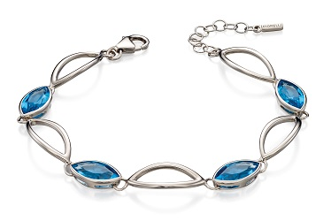 69436 - Blue Crystal alternating bracelet in silver