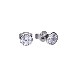 69482 - 1.0ct diamonfire Cubic Zirconia Solitaire stud earrings in silver