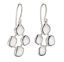 69457 - Silver Organic Drop Earrings