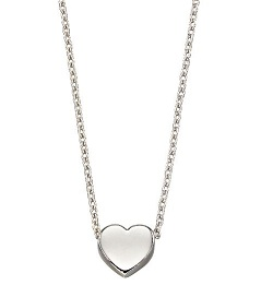 69505 - 9ct White Gold Heart Necklace